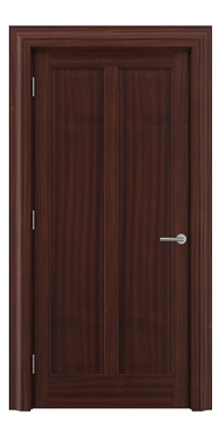 Shadbolt Timeless Type18 hardwood panelled door in Sapele Mahogany veneer