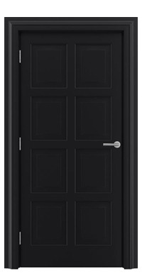 Shadbolt_Type8_Timeless_Hardwood_Door_in_RAL9005_paint_finish