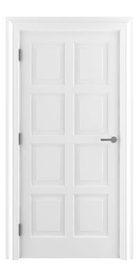 Shadbolt_Type8_Timeless_Hardwood_Door_in_RAL9010_paint_finish