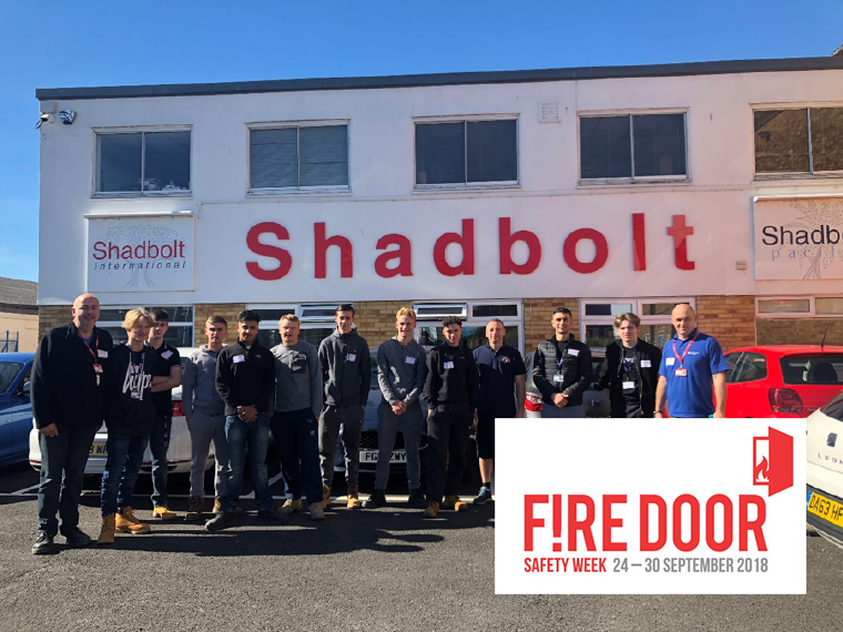 Shadbolt fire door safety week 2018