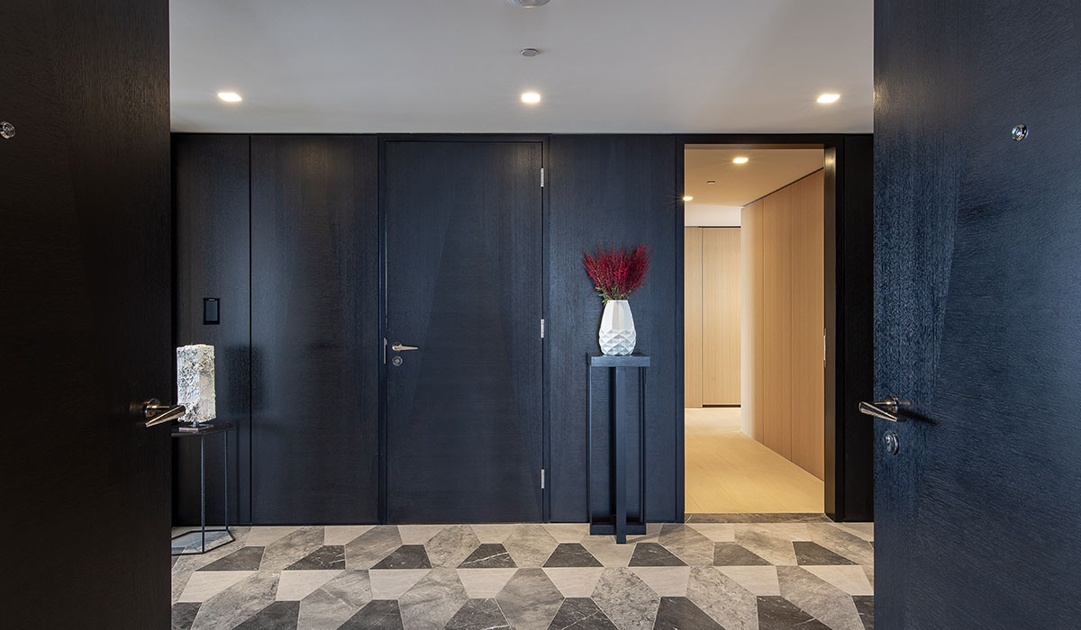 Shadbolt veneered panels, doors and PAS 24 doors at Centrepoint, London