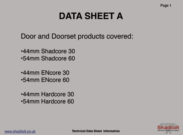 Doorset-Datasheet-A