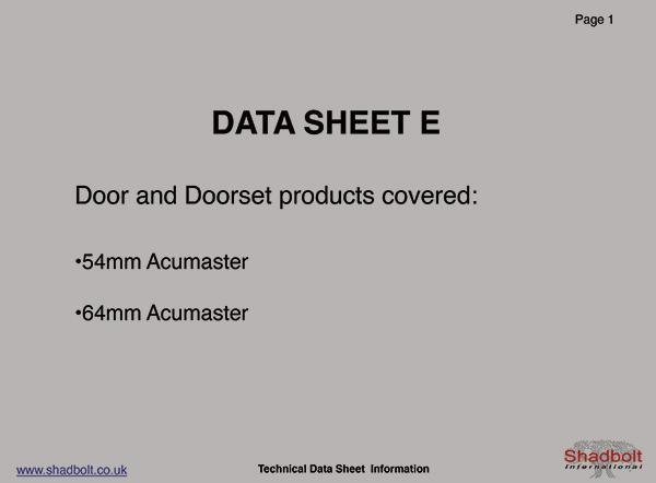 Doorset-Datasheet-E